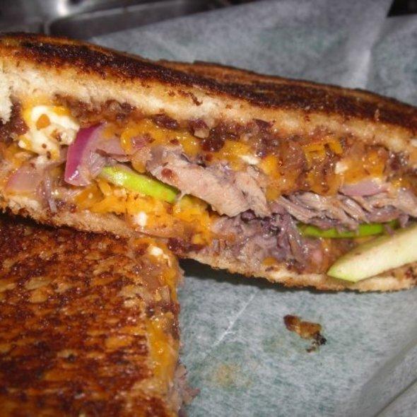 St. Chuck Duck Sandwich @ J'anita's at The Avenue Pub