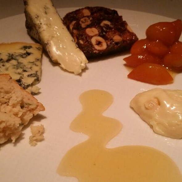 Cheese Plate with Wisconsin Honey, and Pickled Kumquat  - TRU, Chicago, IL