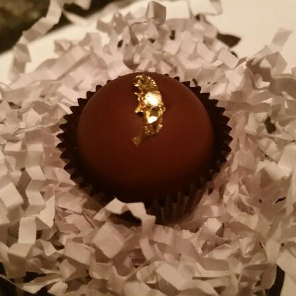 Chocolate, Lemon Verbena, and Gold Foil  - TRU, Chicago, IL