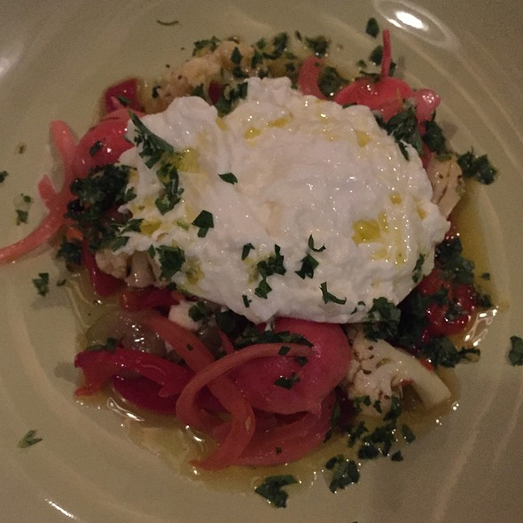 Pickled Vegetables + Burrata @ Brewer's Fork