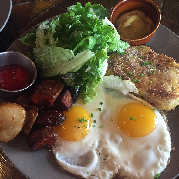 Pig's Head Scrapple And Eggs @ Bronwyn