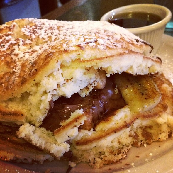 Nutella & Banana Stuffed French Toast Pancake @ Sky Blue Coffee & Bistro