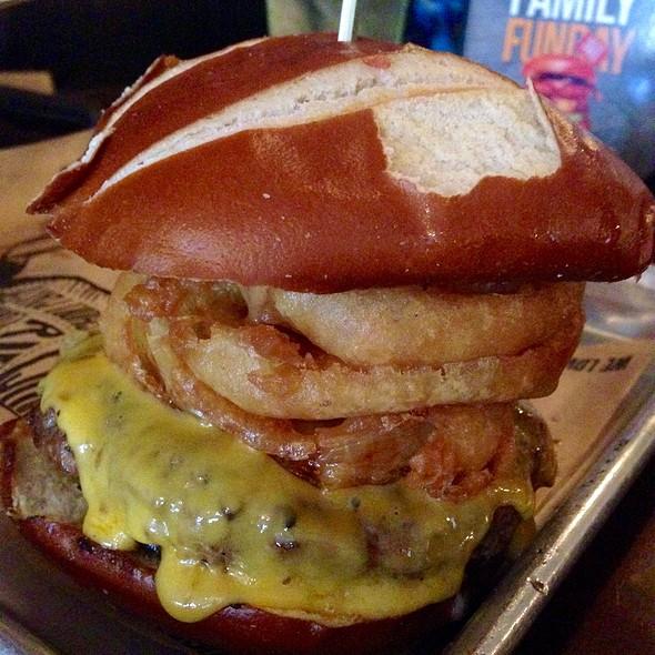 Drunken Pretzel Burger
