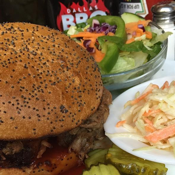 Pork Barbeque Sandwich Platter @ Dallas Bbq