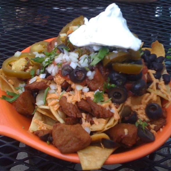 Seitan Asada Nachos @ Papacitos Mexican Street Food Brooklyn