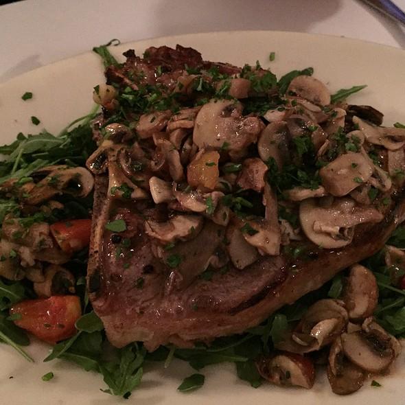 Veal Chop W/ Sautéed Mushrooms, Arugula & Tomatoes - Jackson Fillmore Trattoria, San Francisco, CA