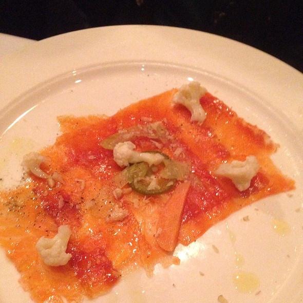 Tazmanian Sea Trout Carpaccio With Cauliflower Gardiniera