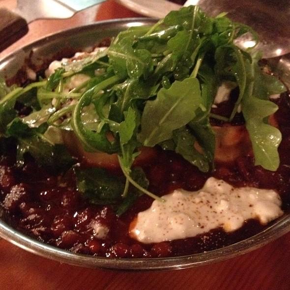 Beans With Seafood And Pork Lasagna Rolls @ Cabane à sucre au pied de cochon