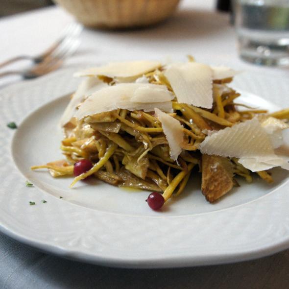 Insalata di carciofi crudi e parmigiano