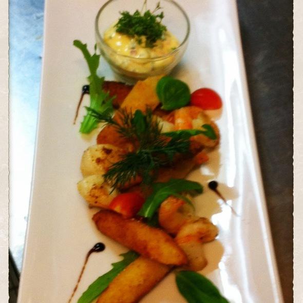 Gebackener Spargel Mit Scampi @ Restaurant Weinstein