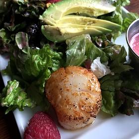 Red Romaine & Raspberry Salad