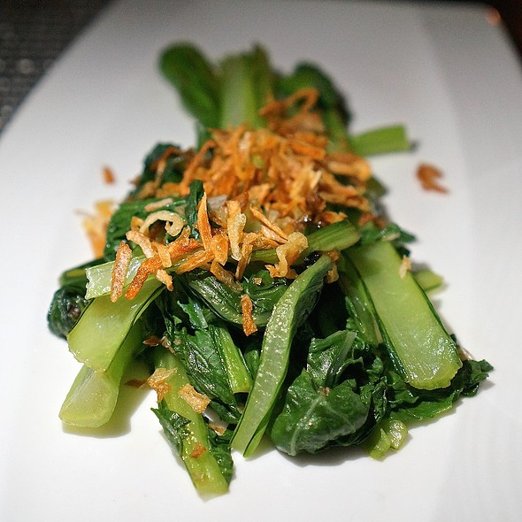 Aloun Farms Chinese flowering cabbage with garlic soy sauce - Azure - The Royal Hawaiian, Honolulu, HI