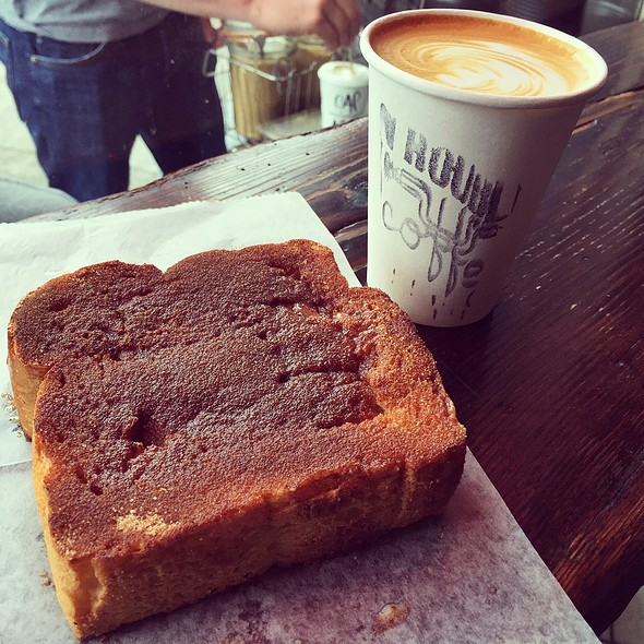 Coconut Milk, Coffee And Cinnamon Toast @ Trouble Coffee Co