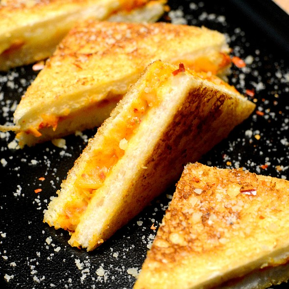 Toastie Sandwich with Kimchi & Cheddar