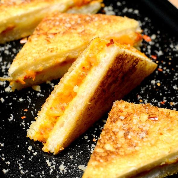 Toastie Sandwich with Kimchi & Cheddar @ Alibi-Wine Dine Be Social