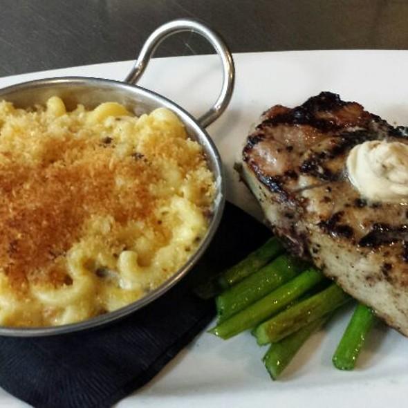 Pork Chop With Bacon Mac & Cheese  - Jimmy's on Broadway, Seattle, WA