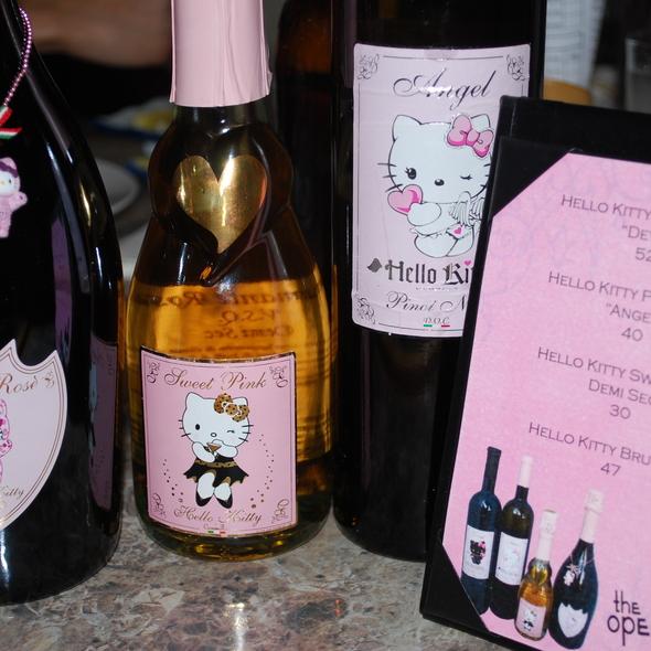 Hello Kitty Wine @ Open Door Restaurant