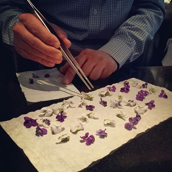 Garnish of Edible Flowers