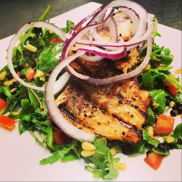 Salmon Salad W Arugula, Currants And Pinenuts - Grazie Italiano, Bloomington, IN