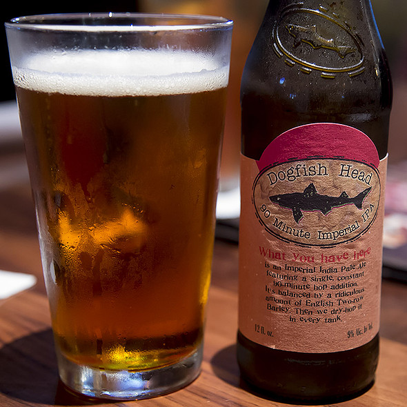 Dogfish Head 90 Minute Imperial IPA @ Lazy Dog Restaurant & Bar