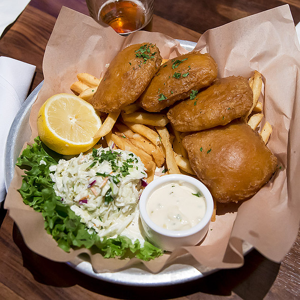 Beer-Battered Fish & Chips @ Lazy Dog Restaurant & Bar