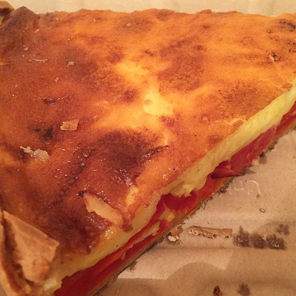 Goats Cheese And Red Pepper Quiche @ Maman