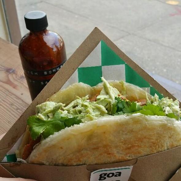 Chicken Chorizo Paratha Taco @ Goa Taco