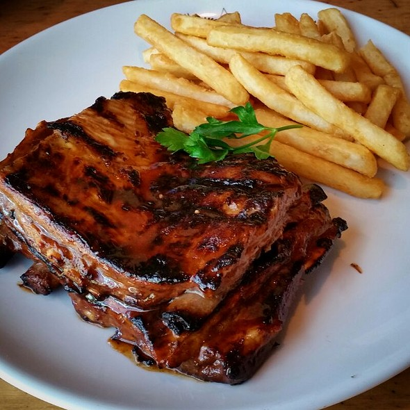 Lamb Ribs With Chips At And Rumps Sydney Olympic Park