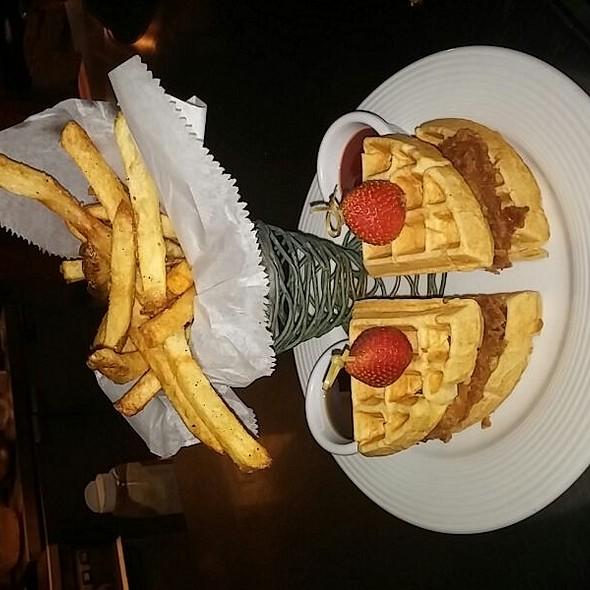 Chicken and waffles! - North Beach Bistro, Atlantic Beach, FL