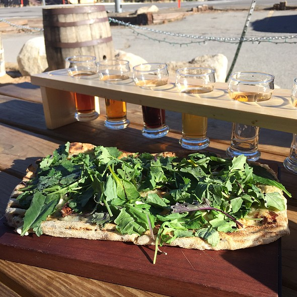 Fig And Goat Cheese Pizza @ Mammoth Brewing Company - Tasting Room and Retail Shop