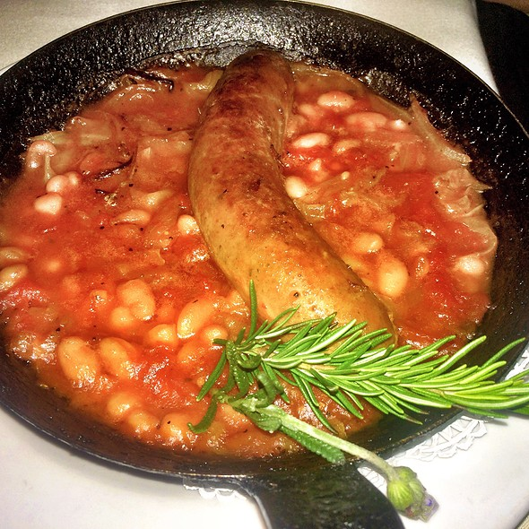 Veal Sausage Cassoulet With White Cabbage & Cannellini Beans - Onotria Wine Country Cuisine, Costa Mesa, CA
