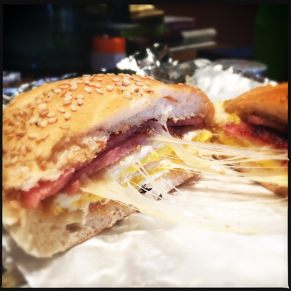Pork Roll, Egg And Cheese Sandwich @ Duke's