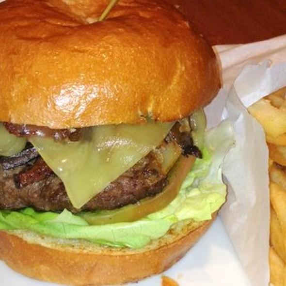Sirloin Burger and Fries - Bonavista Revolving Lounge at The Westin Bonaventure Hotel, Los Angeles, CA
