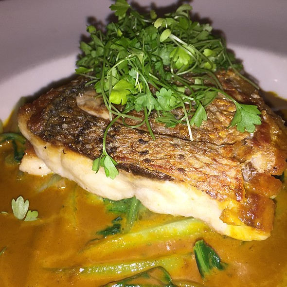 Striped Bass In Curry Sauce