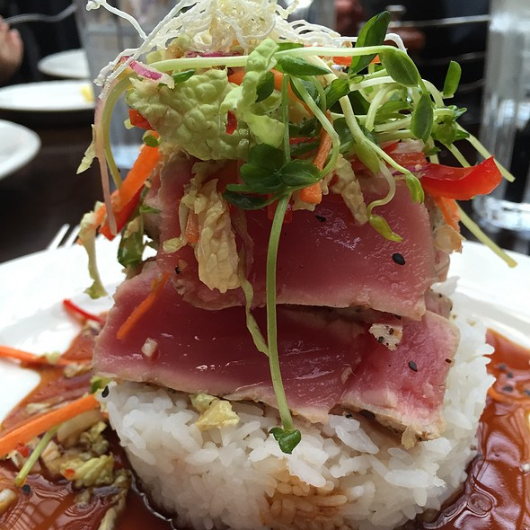 Ahi Tuna On A Bed Of Sticky Rice @ Metro North