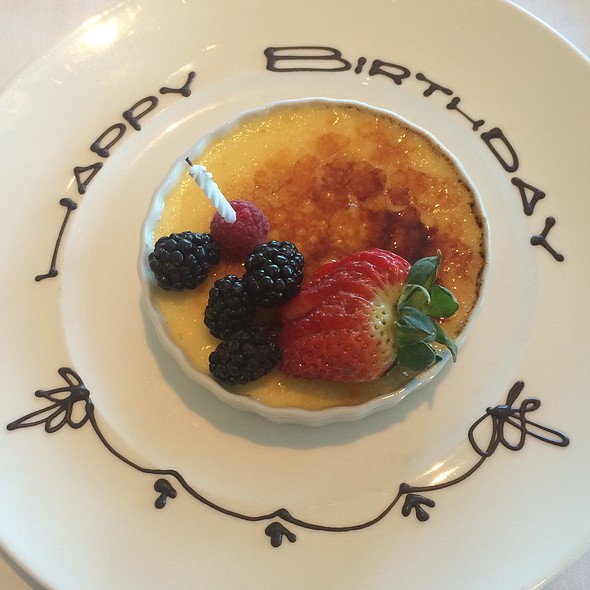 B-Day Creme Brulee - Meritage at the Claremont, Berkeley, CA