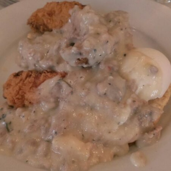 Fried Rabbit With Biscuits and gravy - Restaurant Patois, New Orleans, LA