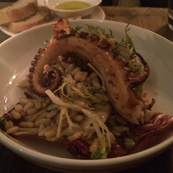 Charred Octopus W/ Chorizo & Rice Beans - dell'anima, New York, NY