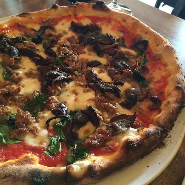 Sausage And Mushroom Pizza @ Antica Pizzeria