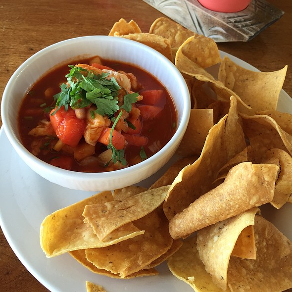 Shrimp And Papaya Ceviche With Cassava Chips