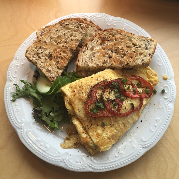 Breakfast Veggie Omlette With Toast @ leonhard's café & Restaurant