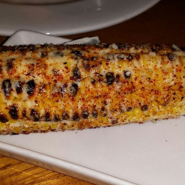 Grilled Corn topped with Butter, Cheese and Lime - Sea Watch Restaurant, Fort Lauderdale, FL