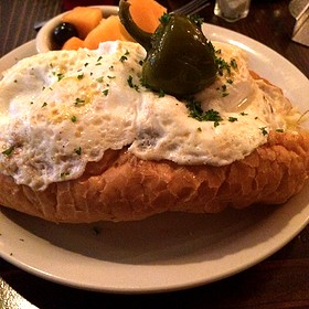 Nancy- Eggs, Meatballs, Mozzarella Sandwich