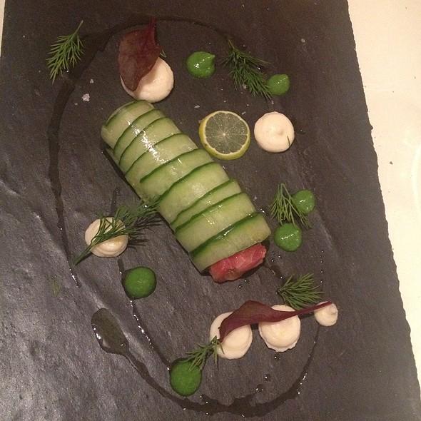 Smoked Salmon, Cucumber And Horseradish