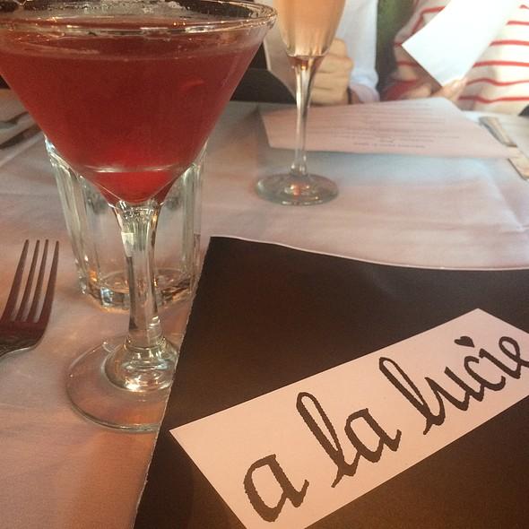 Strawberry Martini @ A La Lucie