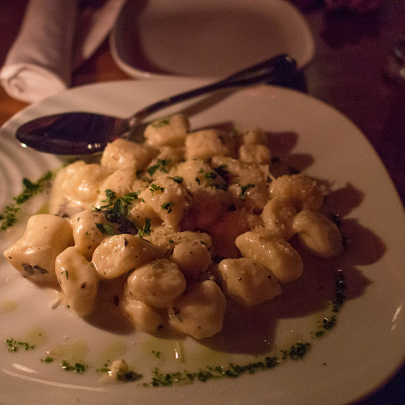 Gnocchi with Black Truffle Cream