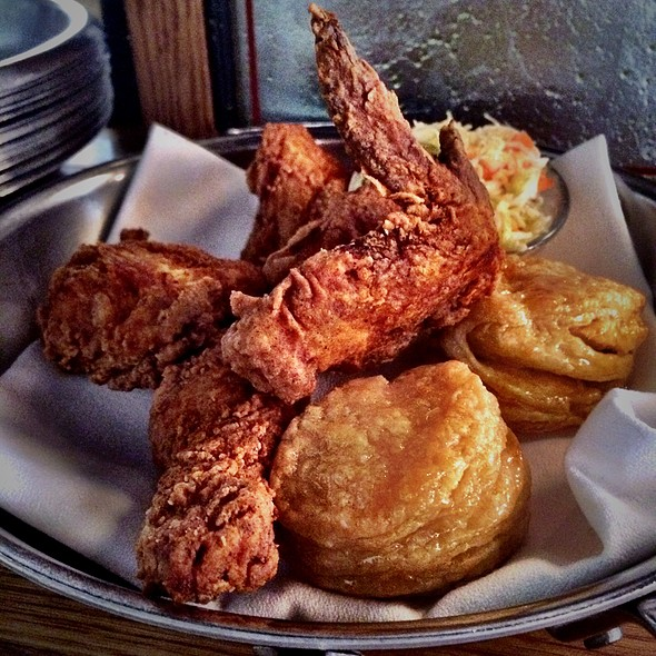 Hot Fried Chicken With Honey Butter Biscuits