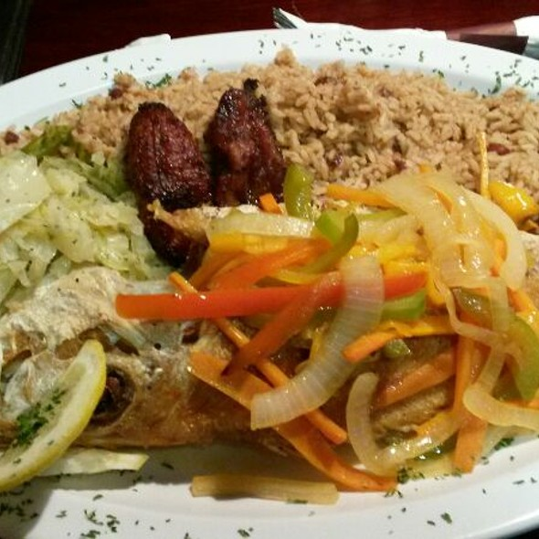 Escovitch Fish (snapper) - Mangos Caribbean Restaurant, Atlanta, GA