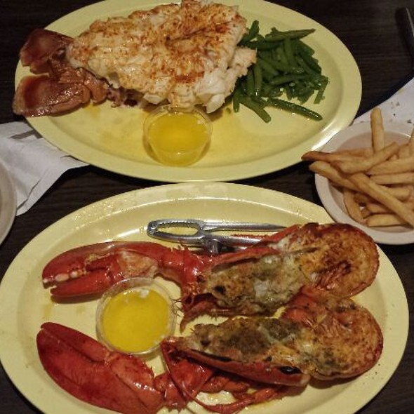 Lobster Tail And Live Maine Lobster