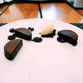 Chocolate And Salted Caramel - Maison Boulud, Montreal, QC